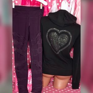 ❤️Victorias Secret Bling hoodie legging Set